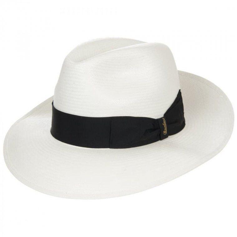 BORSALINO Cappello Panama a tesa larga firmato BORSALINO