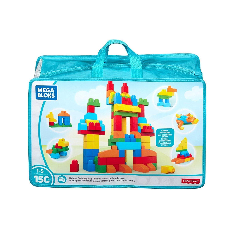 mega bloks mattoncini mega bloks first builders deluxe 150 pezzi con sacca