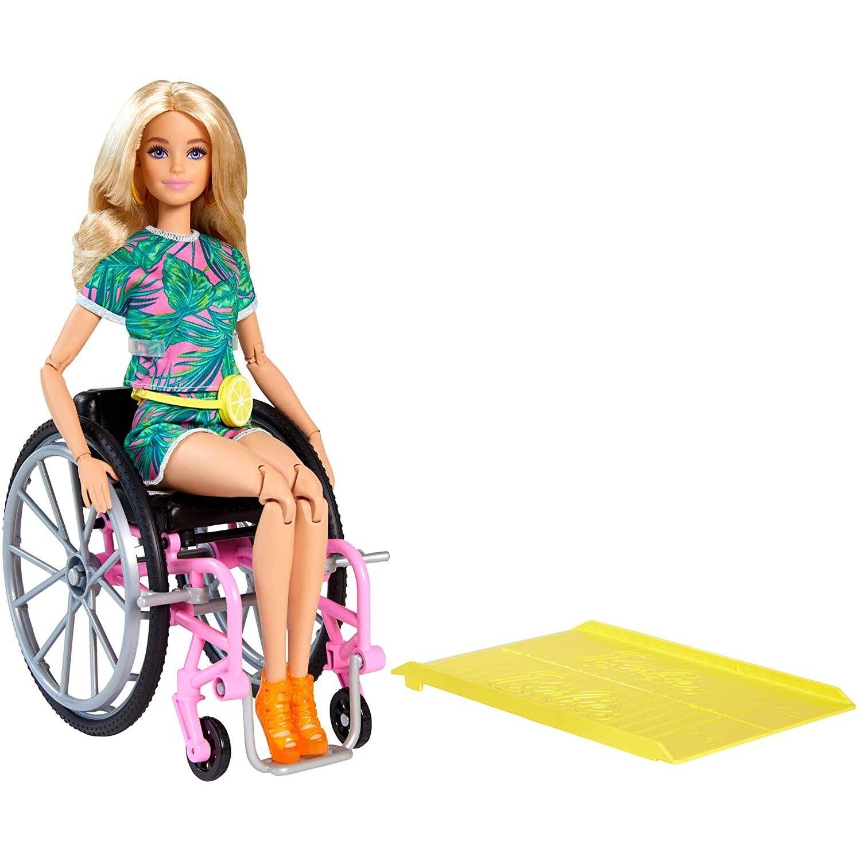 barbie bambola barbie fashionistas 165 sedia a rotelle