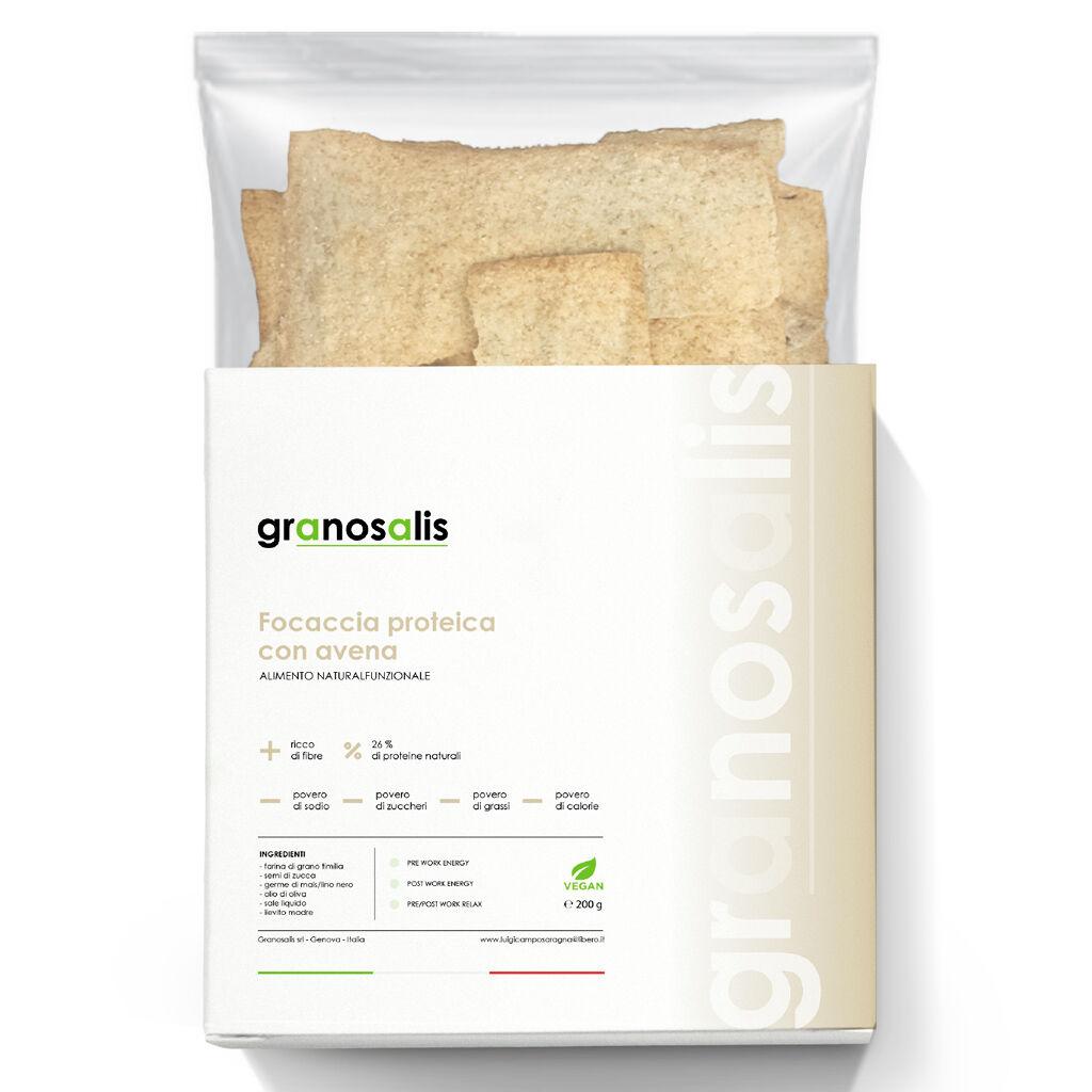 Granosalis Focaccia Proteica Con Farina D'Avena 200 Gr