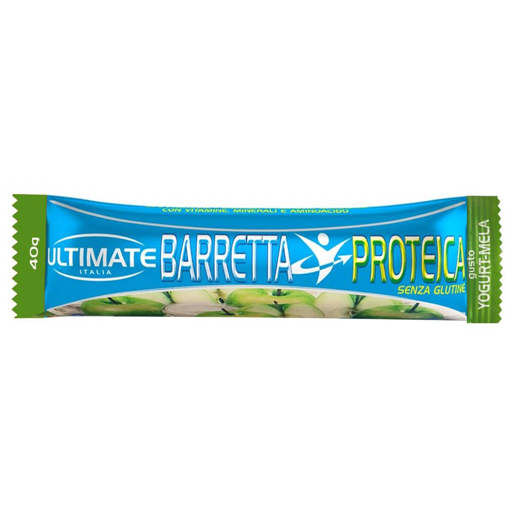ultimate italia barretta proteica 40 gr yogurt-mela