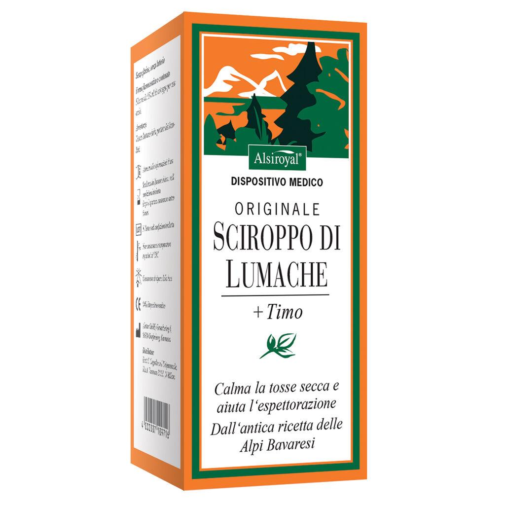 Cagnola Alsiroyal Originale Sciroppo Di Lumache 150 Ml Timo