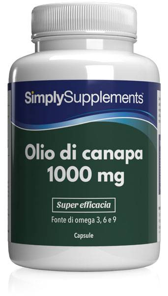 simply supplements olio di canapa 120 capsule