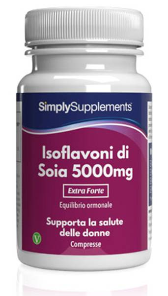 Simply Supplements Isoflavoni di soia 5000 mg 120 Compresse