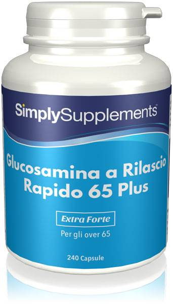 Simply Supplements Glucosamina vegetale a Rilascio Rapido 65 Plus - 240 Capsule