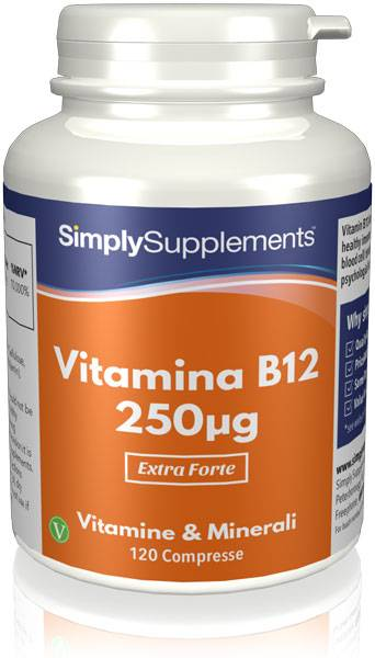 Simply Supplements Vitamina B12 250 mcg 120 Compresse