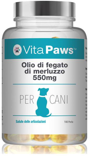 Simply Supplements Olio di fegato di merluzzo 550mg cani  - 180 Capsule