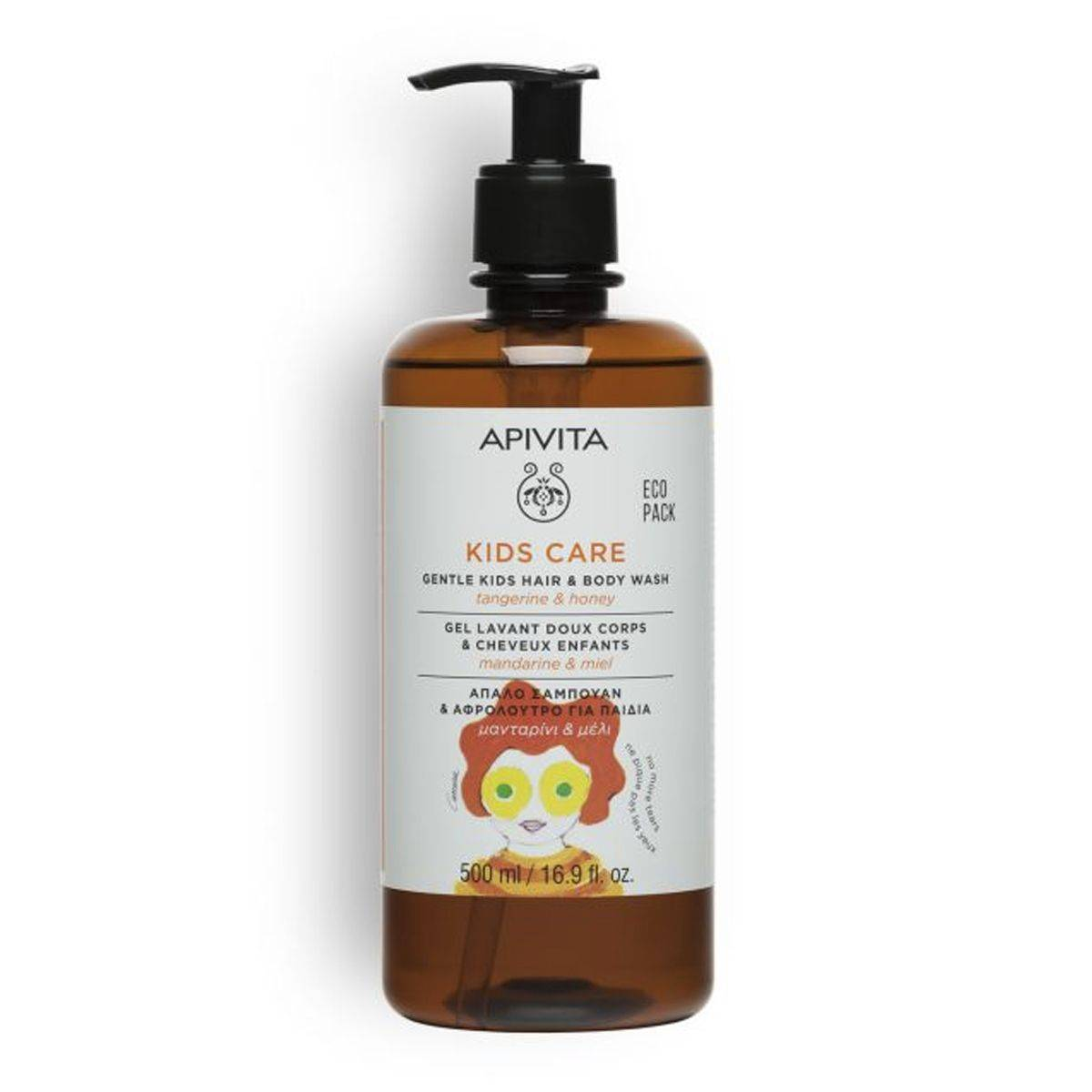 apivita kids gel doccia e capelli bambini 500ml