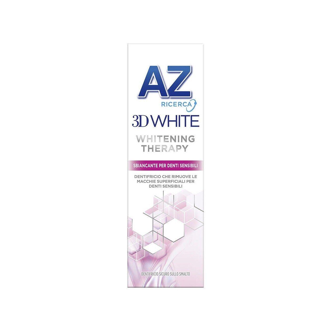 az 3d white therapy dentifricio sbiancante per denti sensibili 75ml