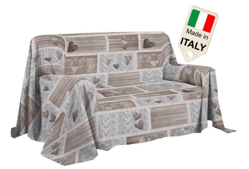 TexST Copridivano copriletto shabby love copritutto made in Italy gran foular telo