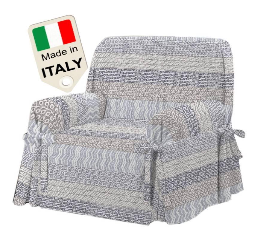 TexST Copridivano lacci Made in Italy copritutto sagomato con laccetti per divano
