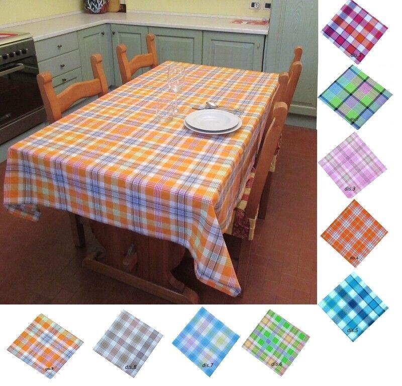 MyShopCasa Tovaglia scozzese per 12 persone Tinto in Filo per tavolo grande