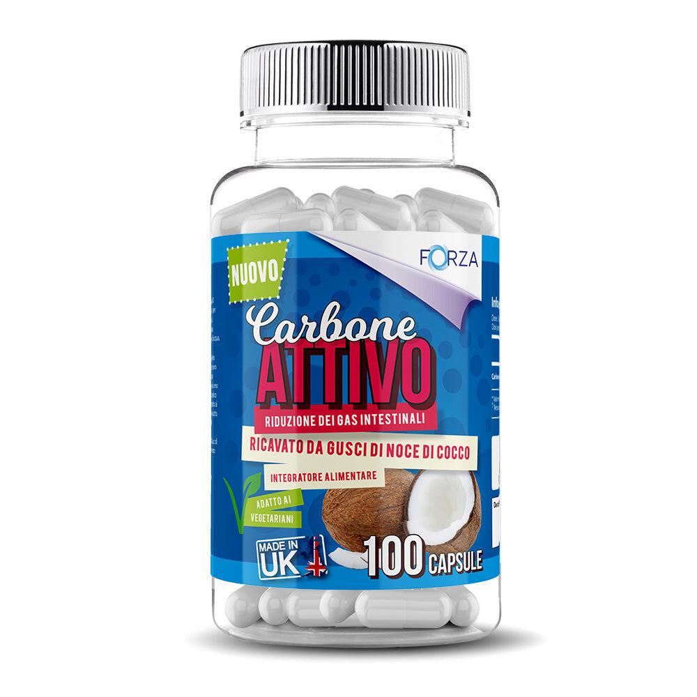 forza-supplementsit FORZA Carbone Attivo - Da guscio di noci di cocco - 100 Capsule - B2B