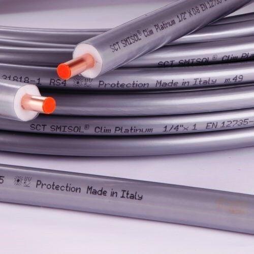 Tubo Rame SCTubes SMISOL CLIM PLATINUM Per Climatizzazione 25 Metri Spessore 1,0 mm con Diametro 5/8 - 3/4 - 7/8