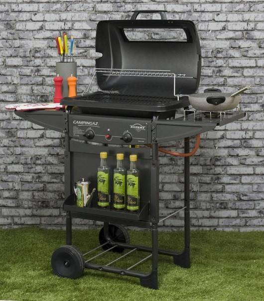 "Barbecue A Pietra Lavica In Acciaio Campinganz ""expert Deluxe""cod.13348"