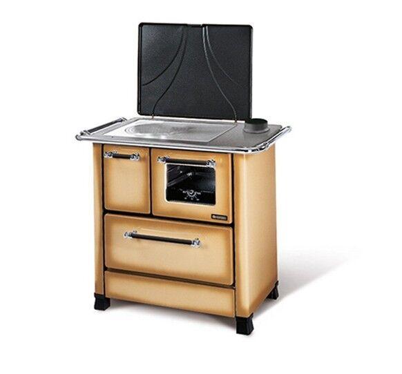 Cucina A Legna La Nordica Extraflame Modello Romantica 4.5 1/2 Colore Cappuccino Dx Cod: 47432