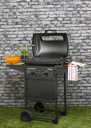 """barbecue a pietra lavica in acciaio mod. """"expert plus it"""""""