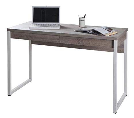 scrivania composad modello disegno sr6036k51104 cm.120x50x75h a 2 cassetti colore rovere cod.96260