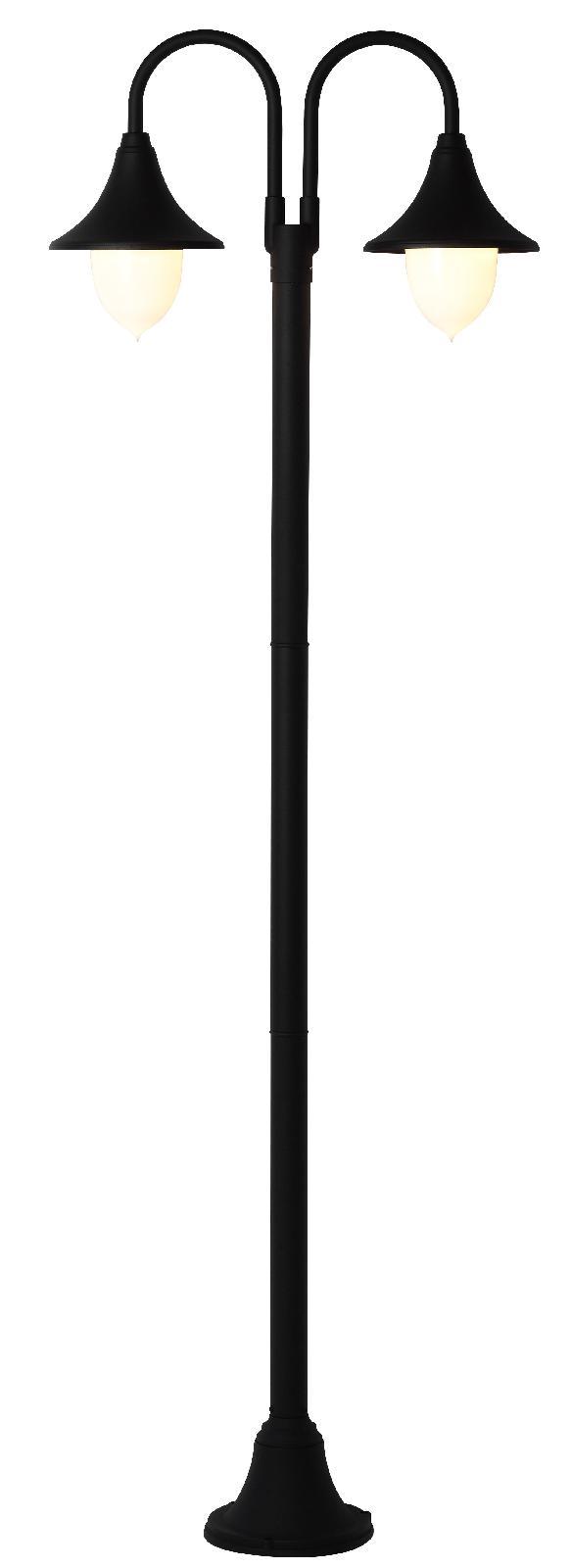 Arredo Giardino Lampione Da Esterno In Alluminio Cm 210 Serie Parigi Colore Nero