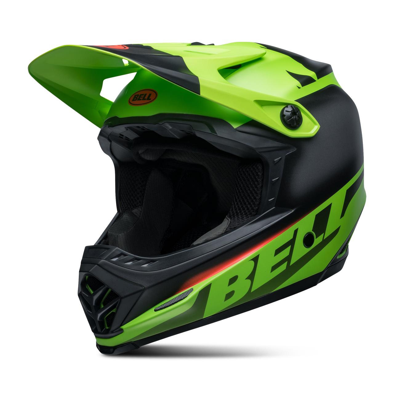 Bell Casco Cross Bambino  Moto-9 Mips Glory Rosso-Nero-Verde