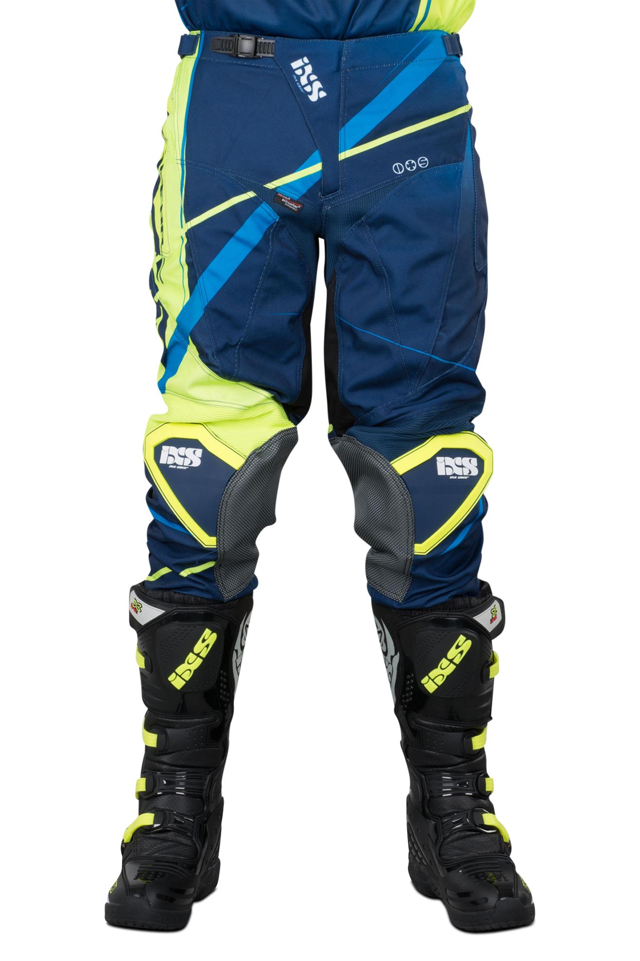 iXS Pantaloni Cross  Hurrican Blu-Giallo