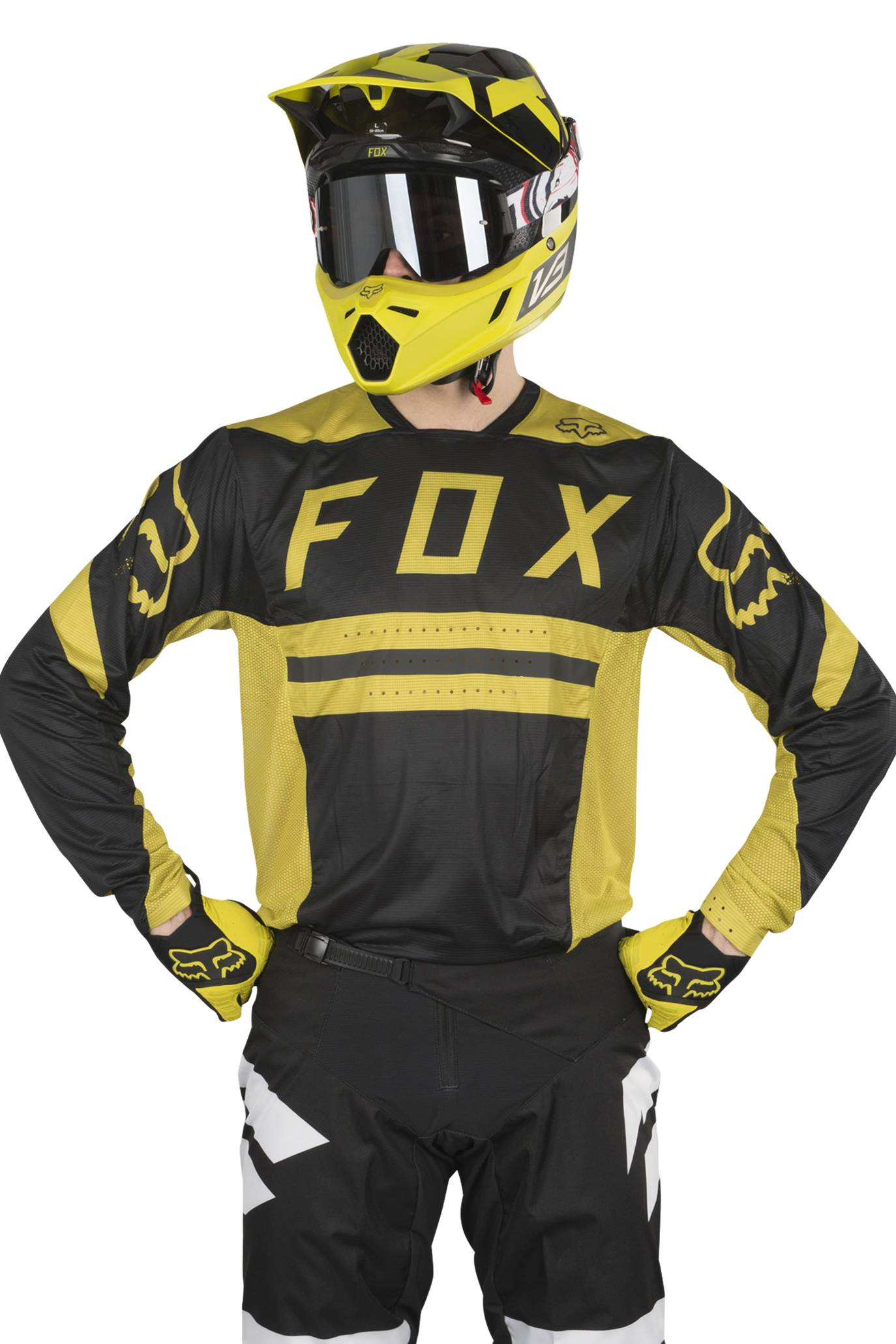 FOX Maglia Cross  Racing Flexair Preest Giallo Scuro MX 18