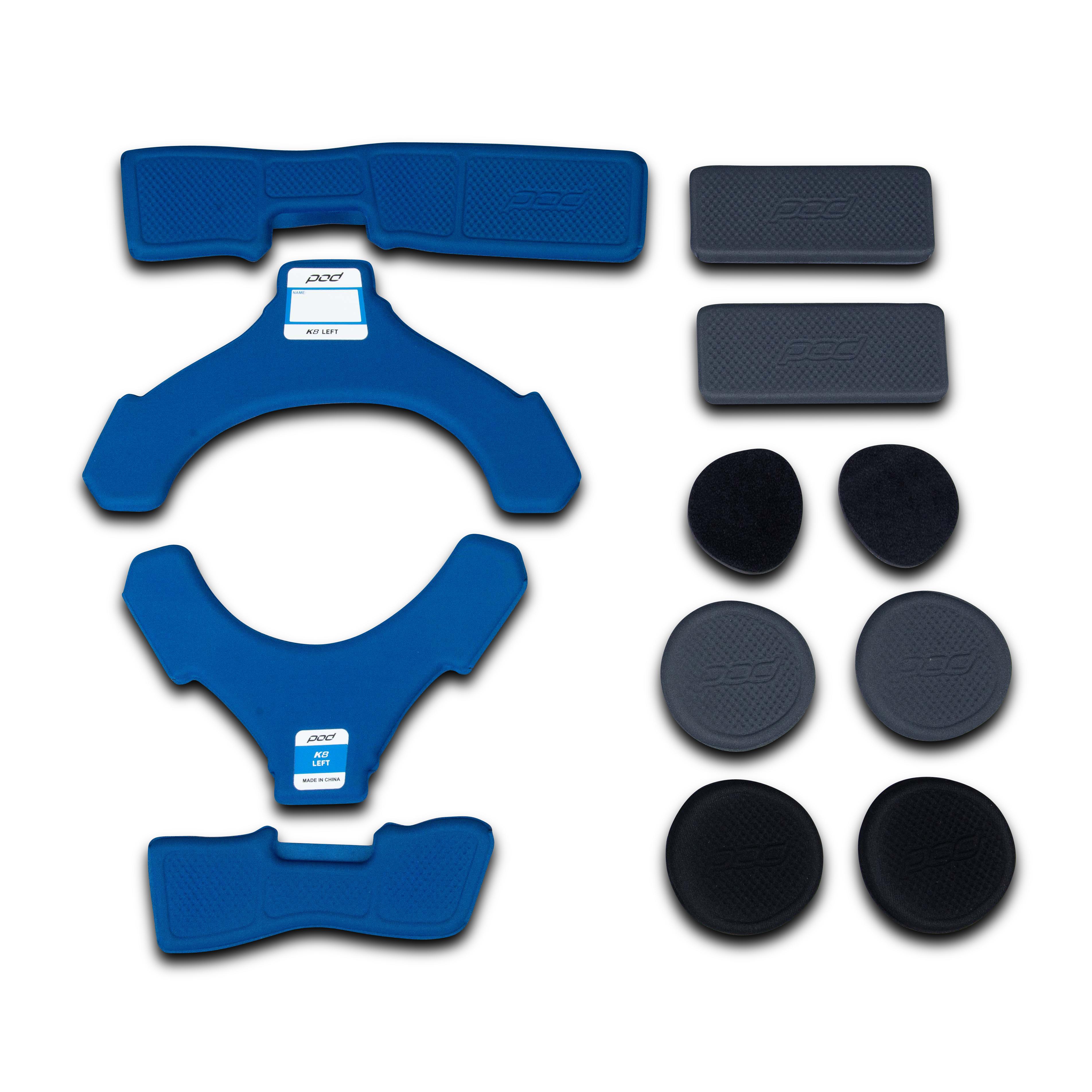 POD Kit Imbottitura Ginocchiera  K8 Sinistra Blu