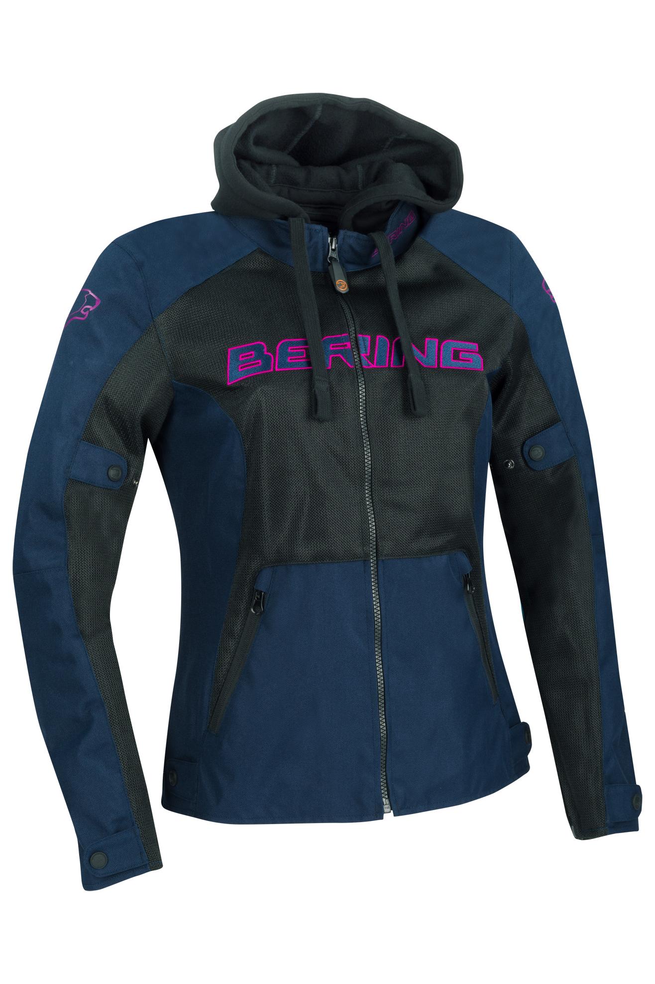 Bering Felpa Moto Donna  Spirit Nero-Blu