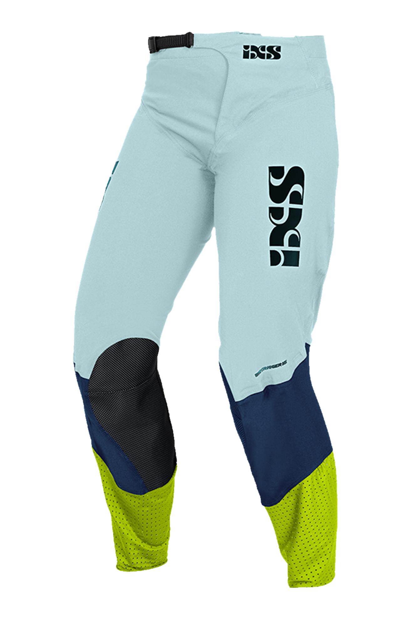 iXS Pantaloni Cross  Trigger Blu-Giallo