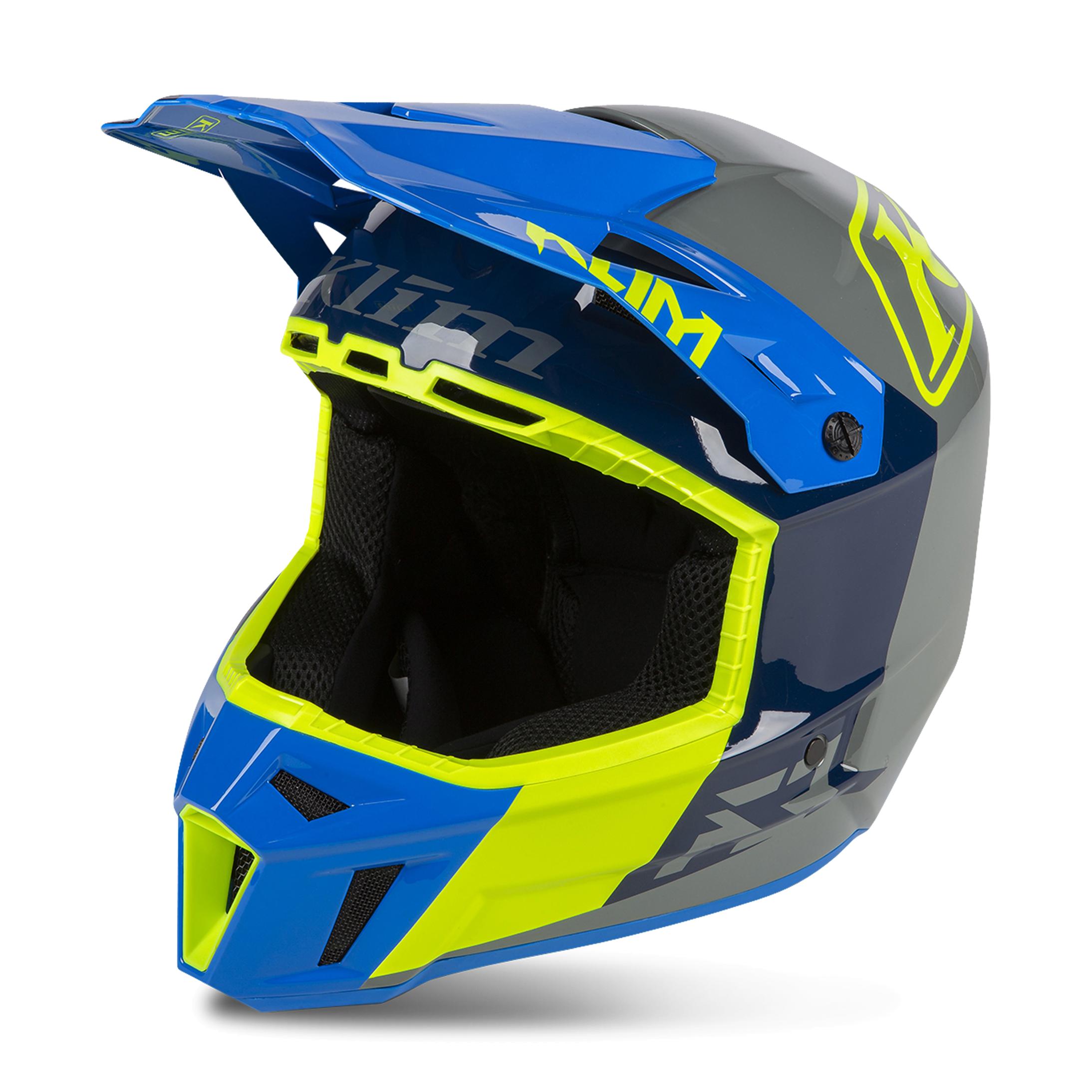 KLIM Casco Cross  F3 Prizm Blu