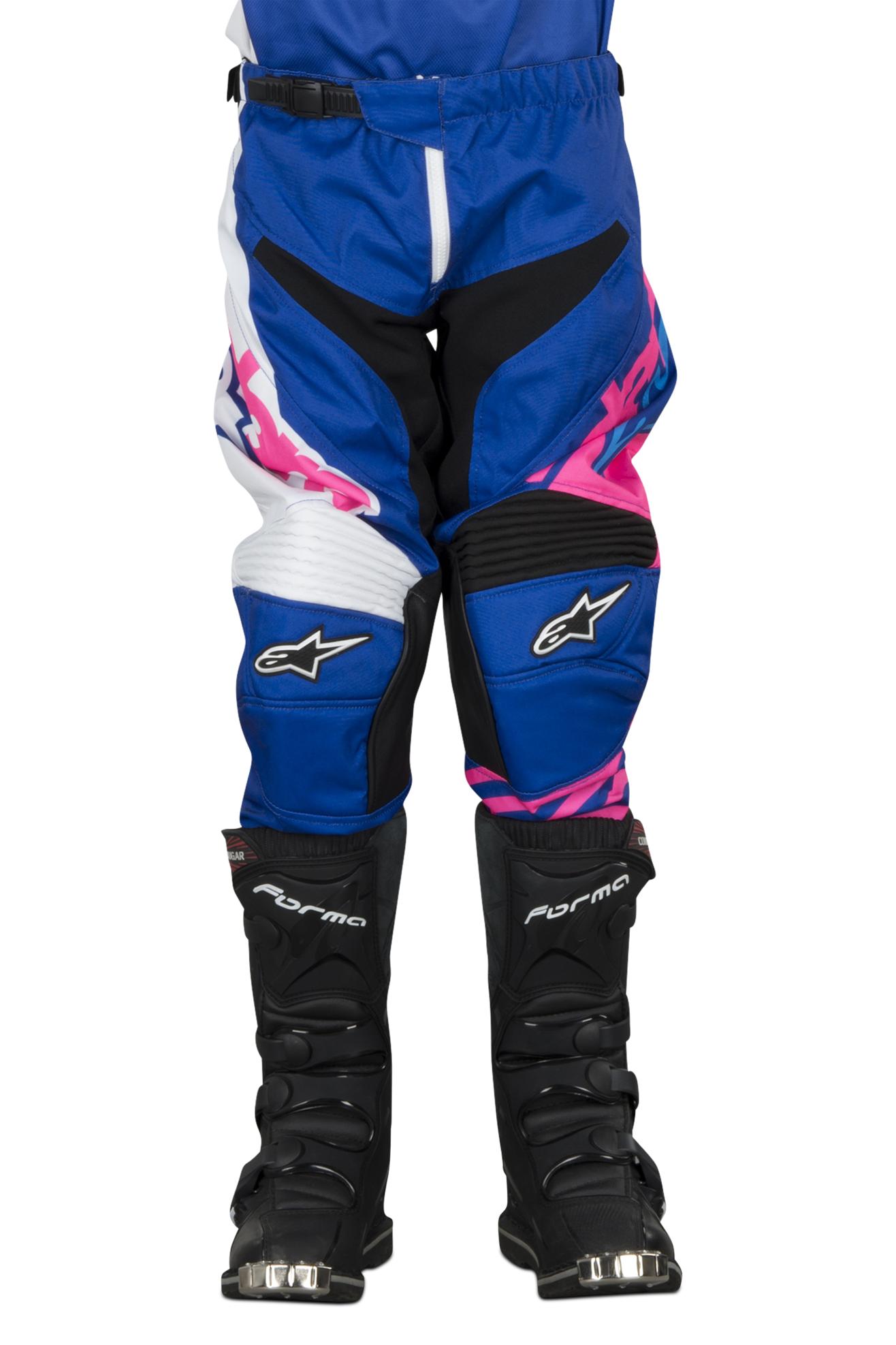 Alpinestars Pantaloni Cross Bambino  Racer Venom Blu-Rosa fluo-Bianco