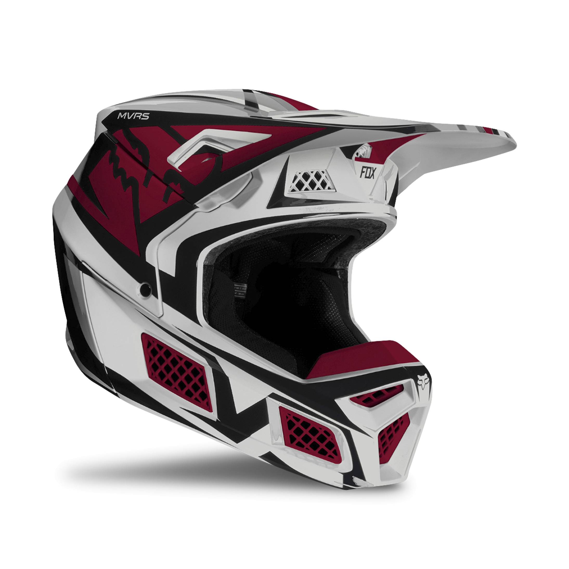 FOX Casco Cross  Racing V3 Idol Grigio