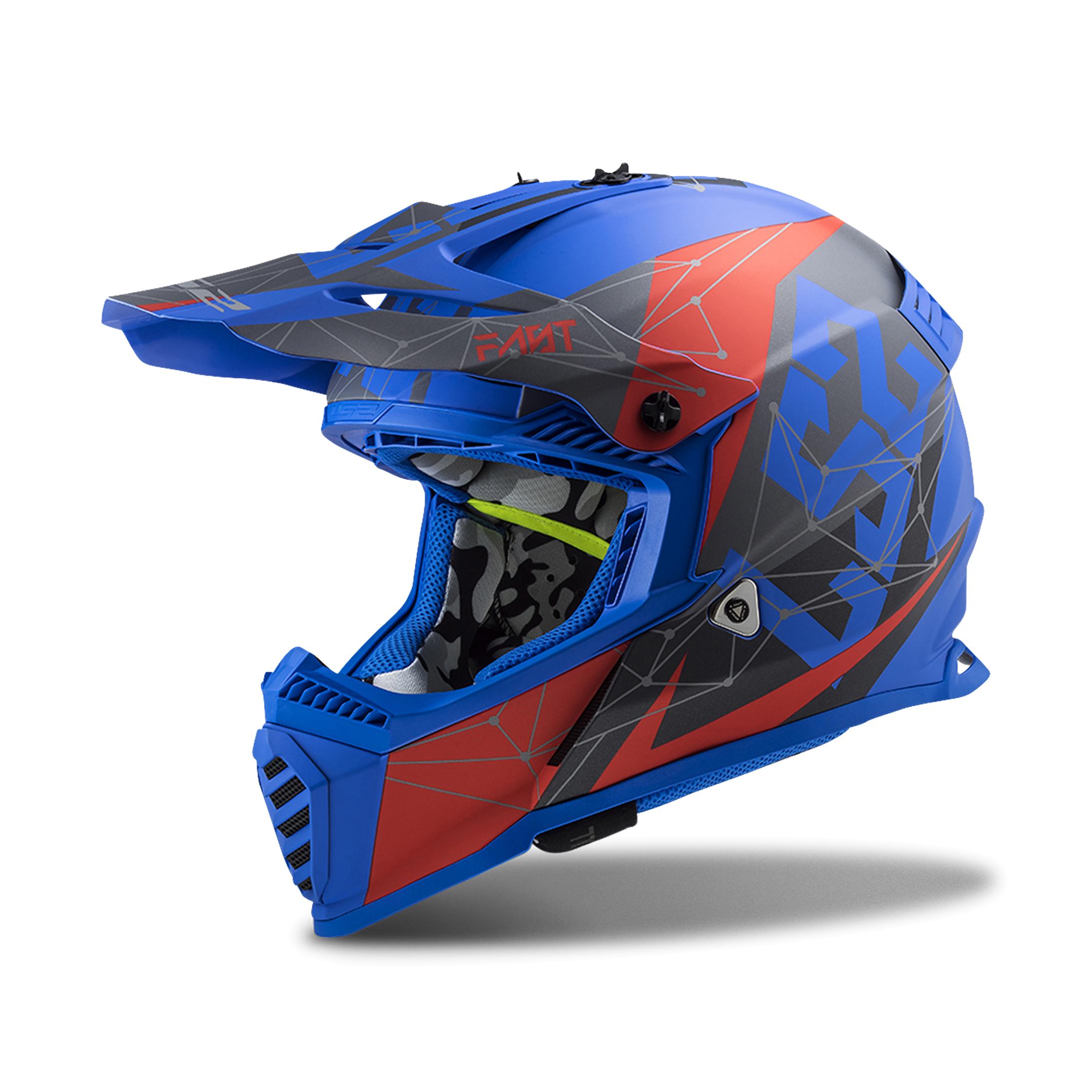 LS2 Casco Cross  MX437 Fast Evo Blu