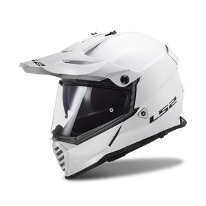 LS2 Casco Cross  MX436 Pioneer Evo Bianco