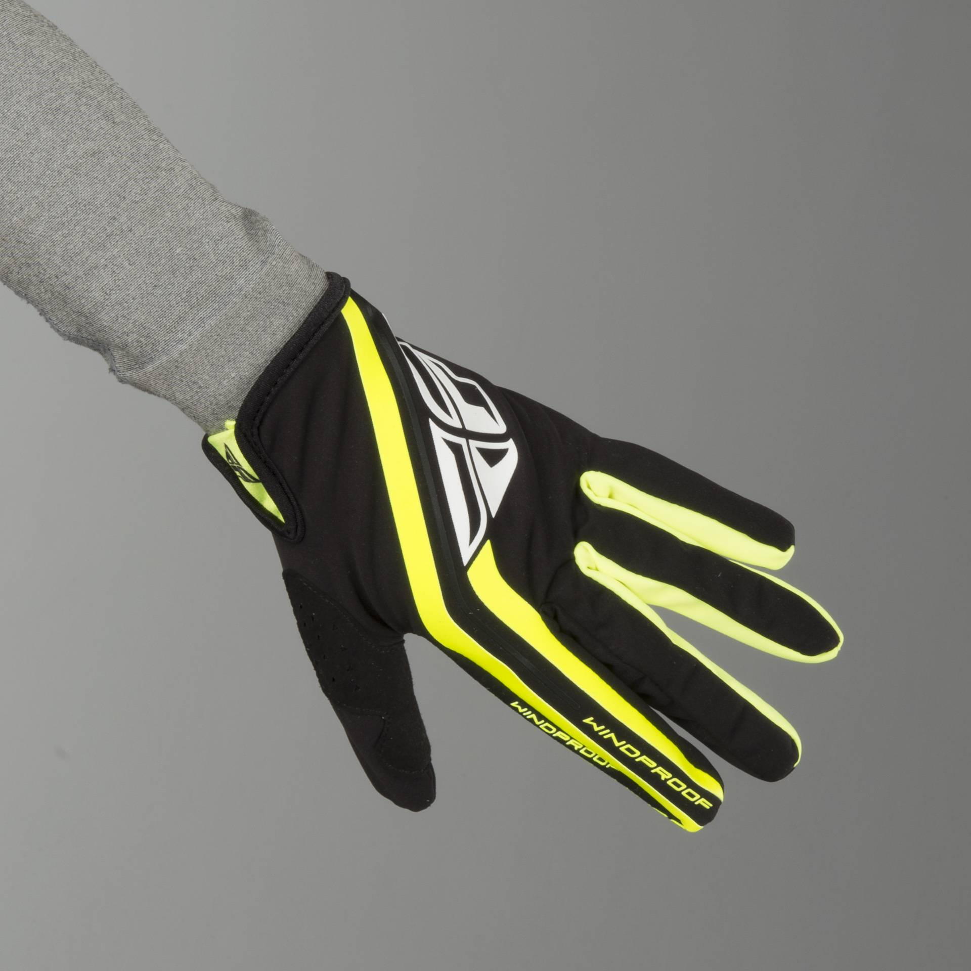 FLY Racing Guanti cross FLY Windproof Lite Nero-HiVis