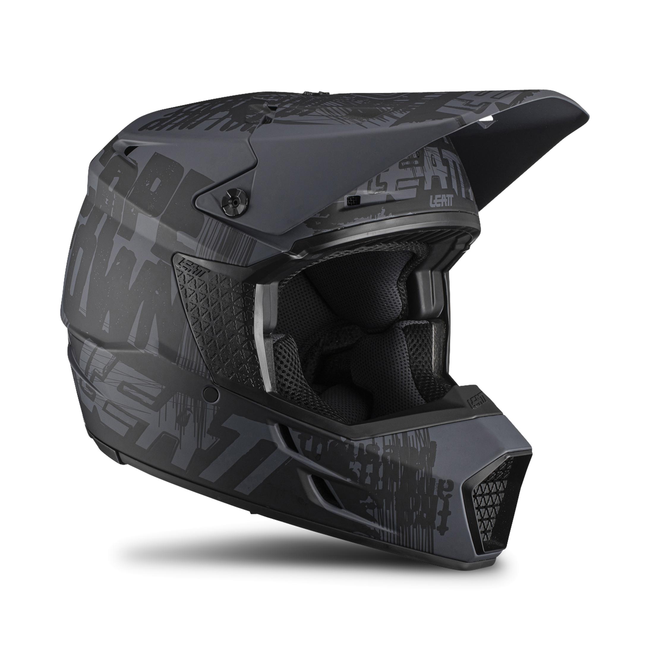 leatt casco cross  moto 3.5 ghost