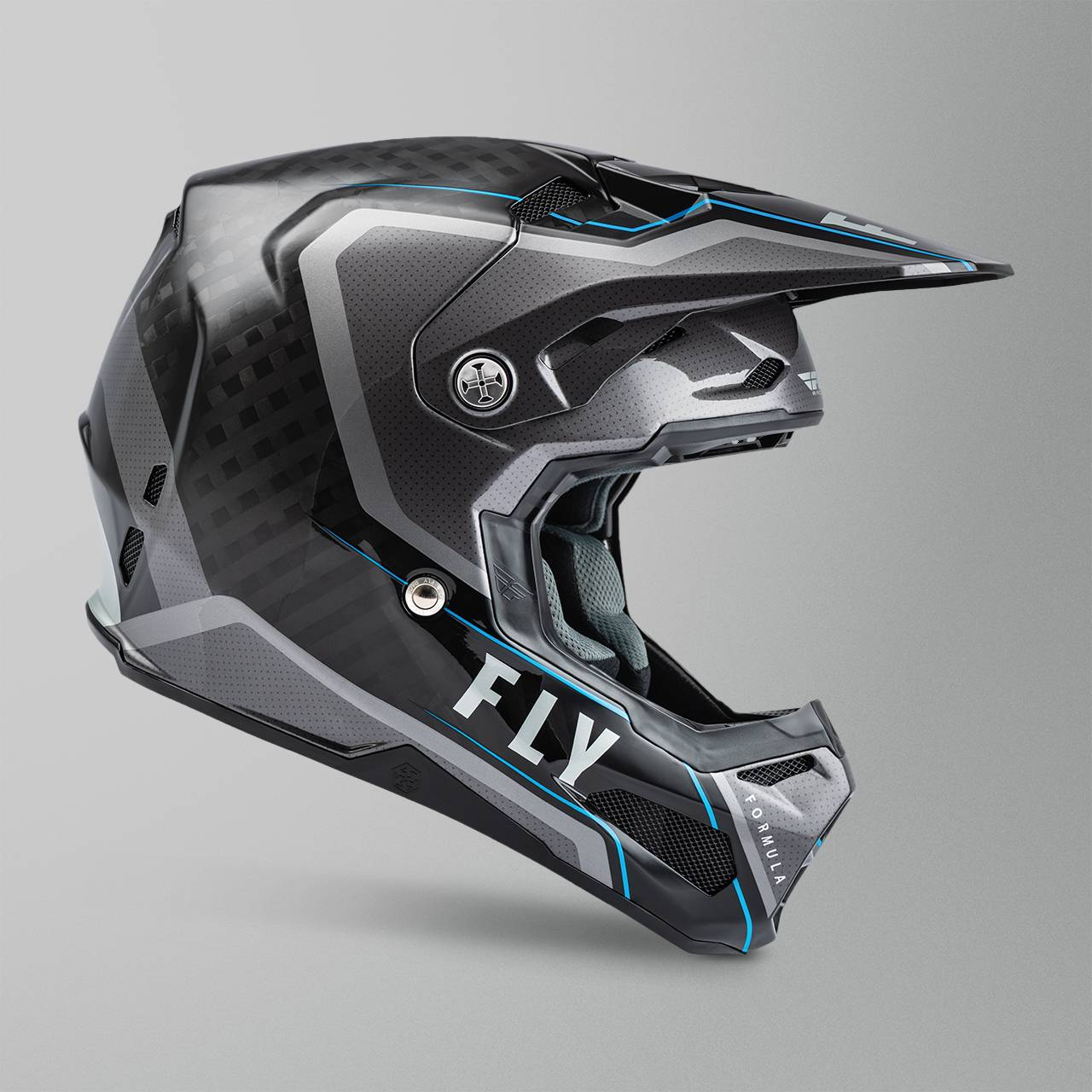 FLY Racing Casco Cross  Formula Carbon Axon Nero-Rosso