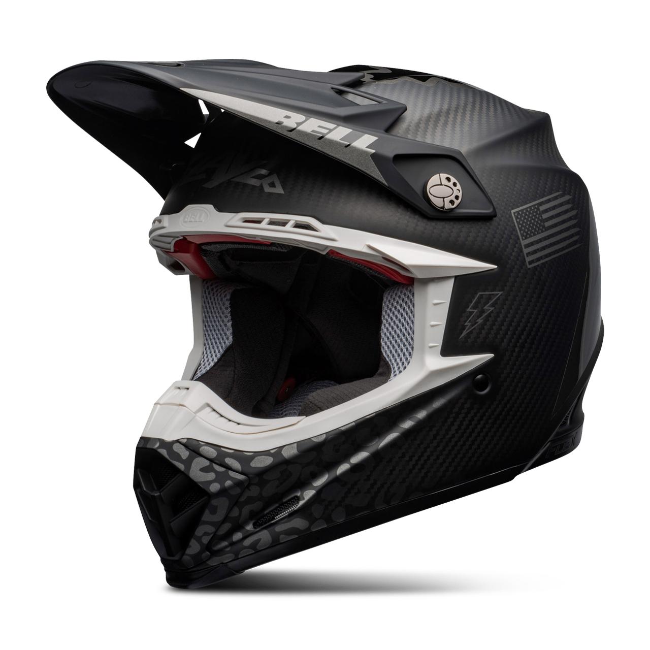bell casco cross  moto-9 flex slayco nero-grigio