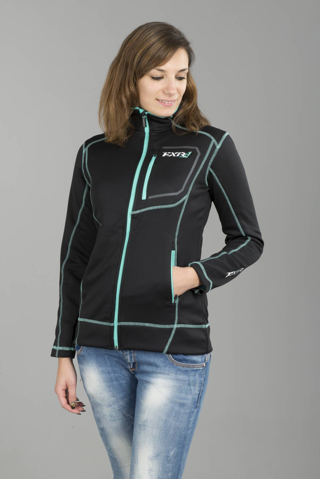 FXR Giacca Donna  Elevation Tech Zip-Up Nero-Menta