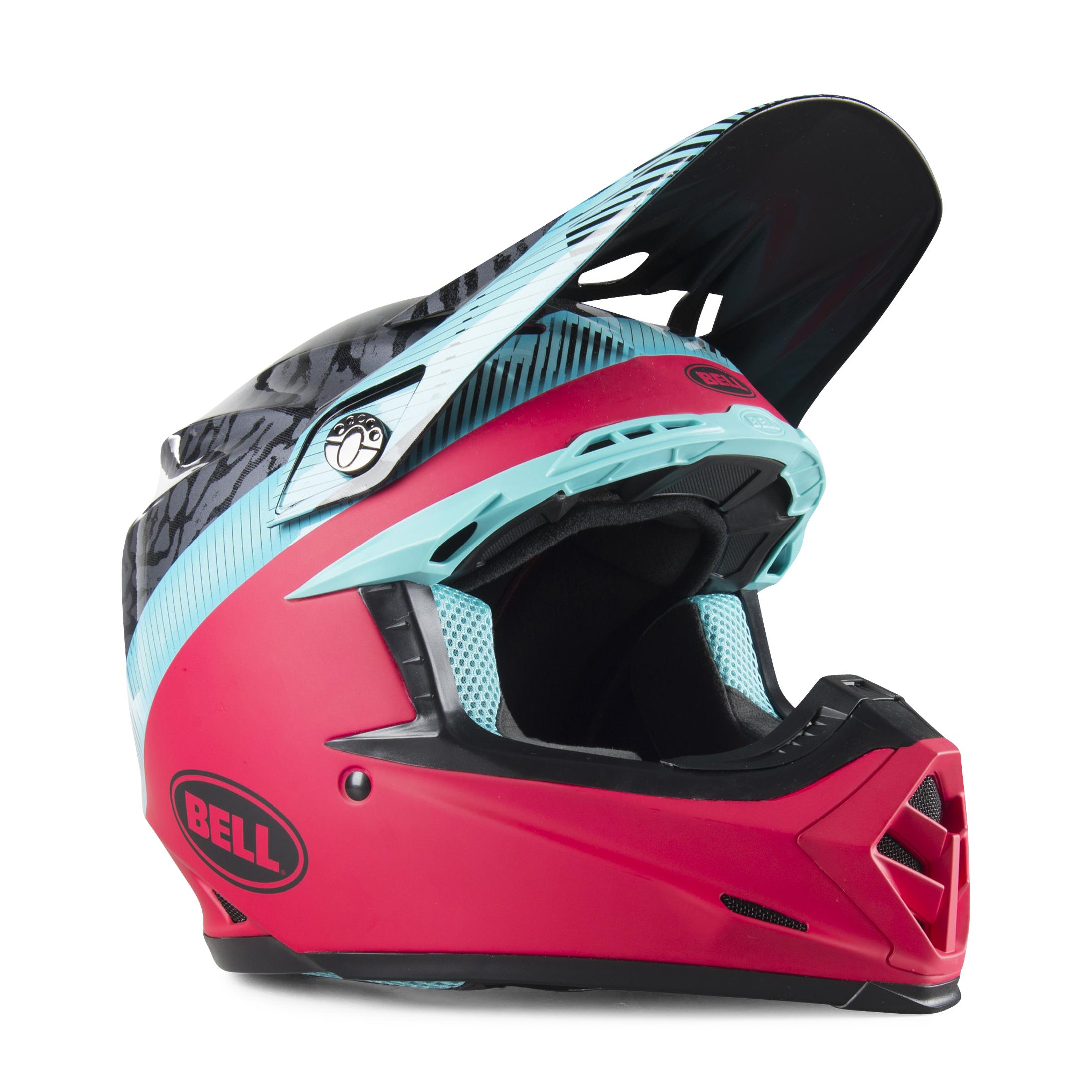 bell casco cross  moto-9 mips chief nero-rosa-blu