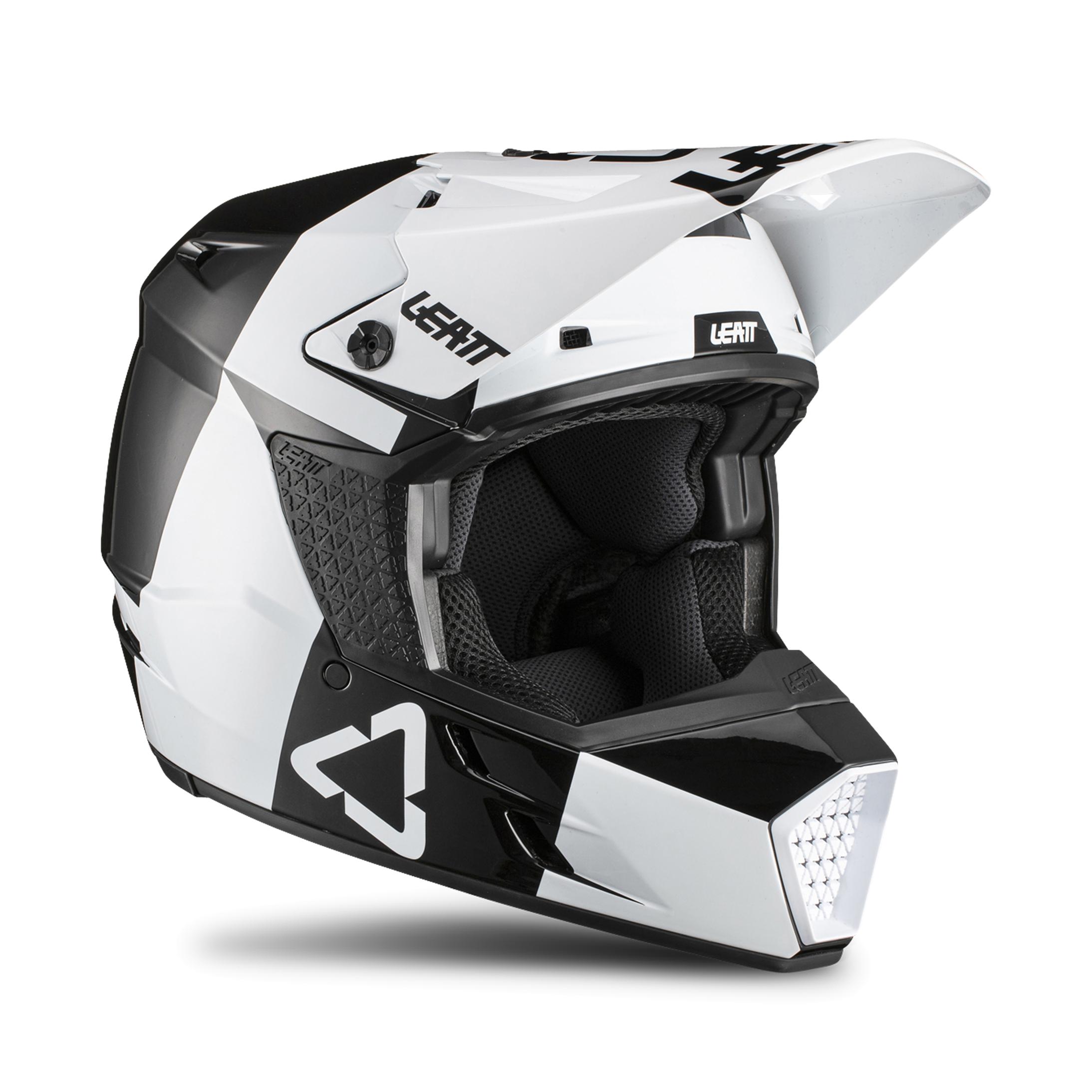 leatt casco cross  moto 3.5 nero-bianco