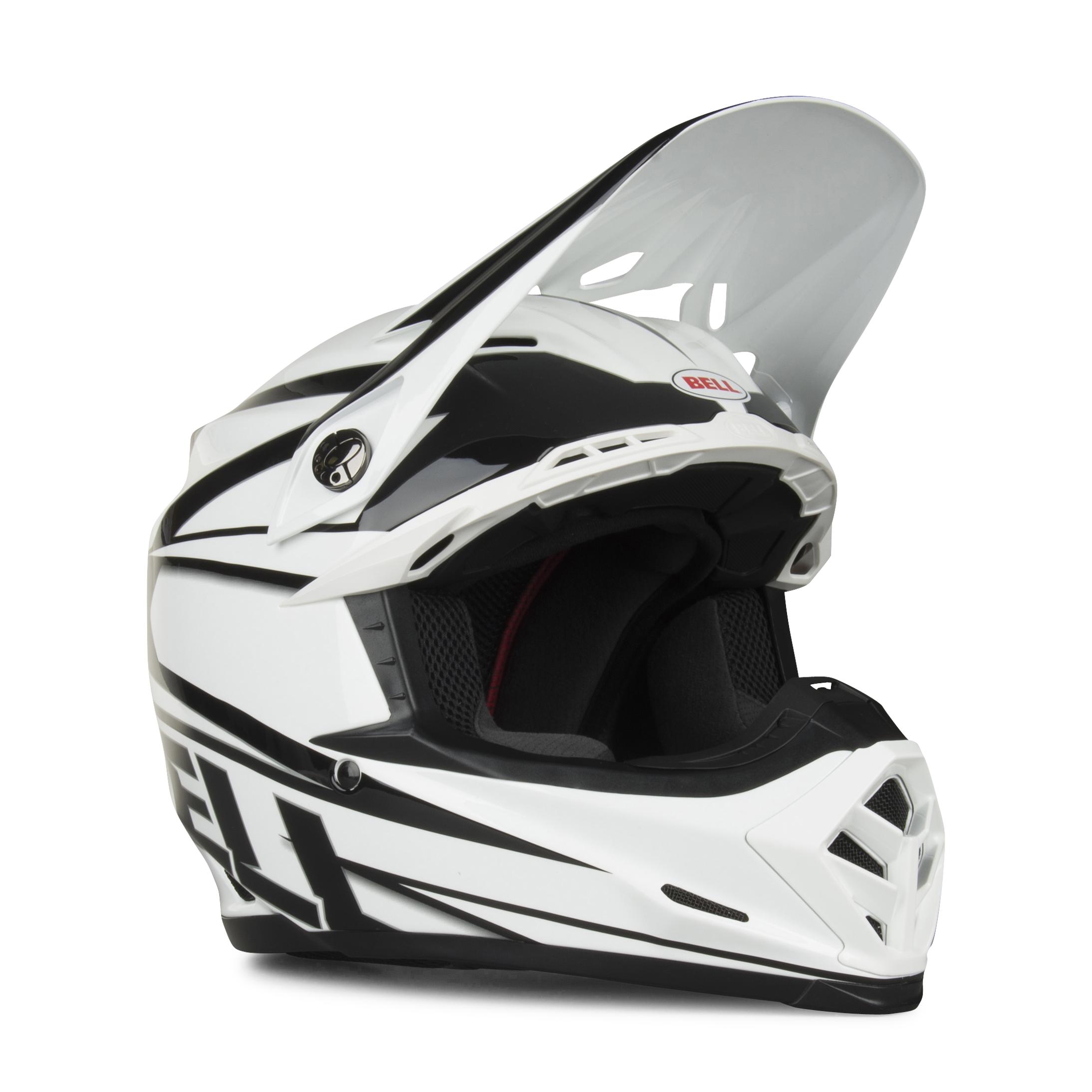 bell casco cross  moto-9 tracker bianco