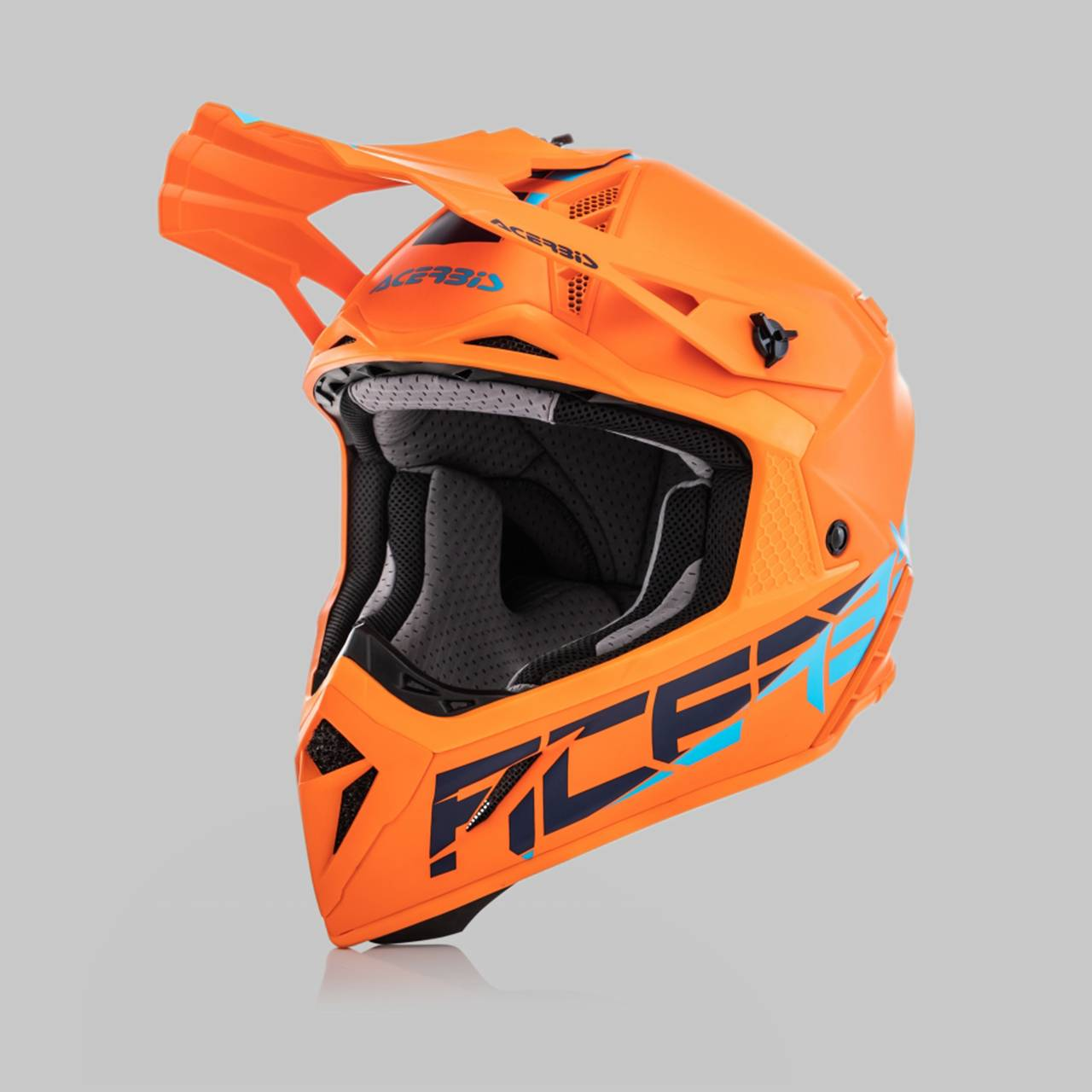Acerbis Casco Cross  Steel Carbon Arancio