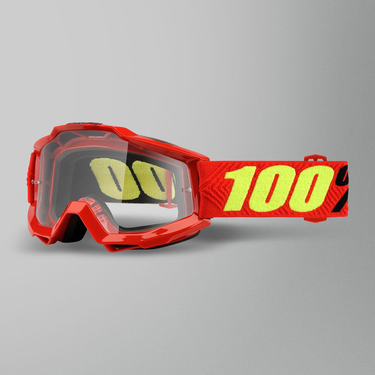 100% Maschera Cross  Accuri OTG Saarinen Rossa