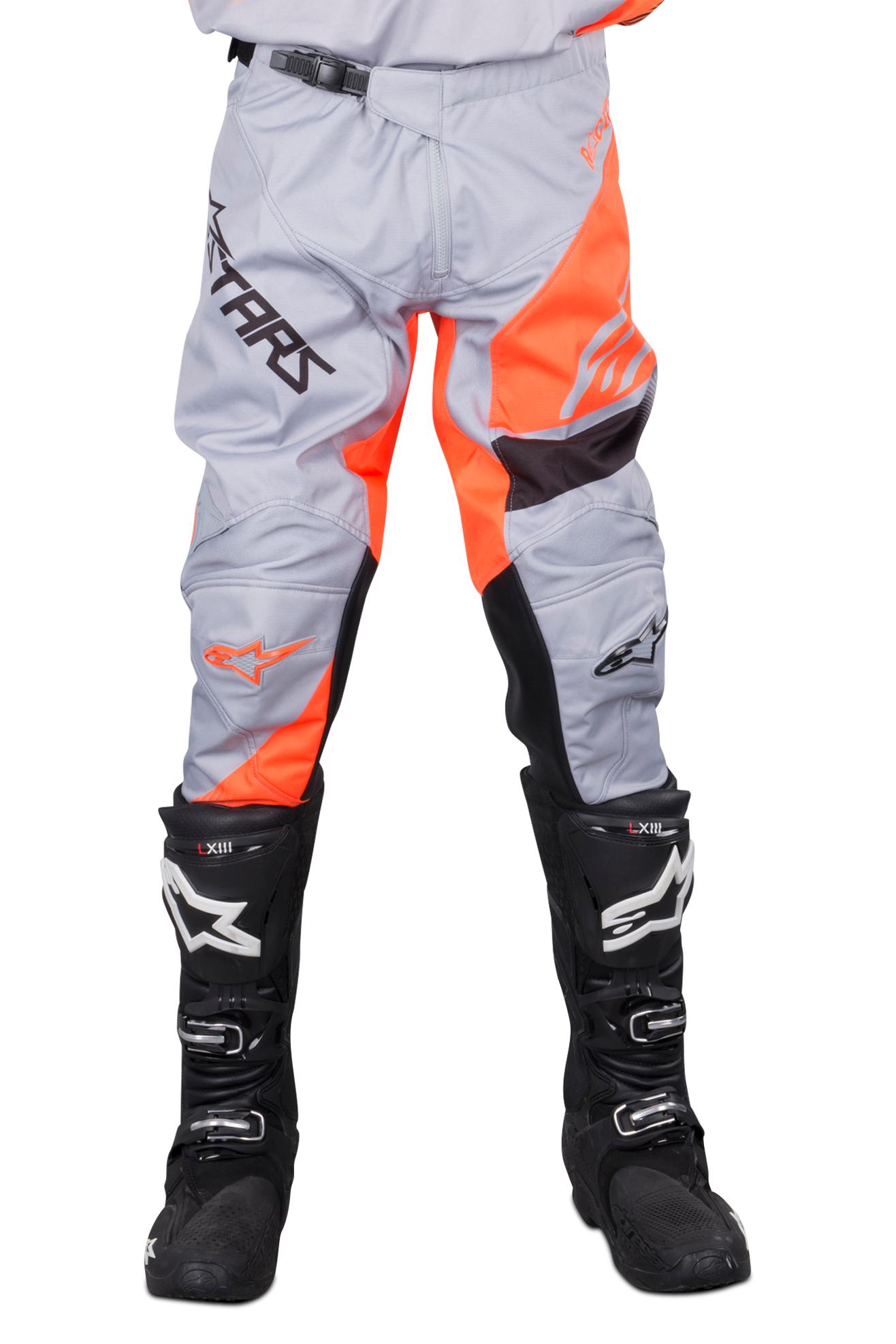 Alpinestars Pantaloni Cross  Racer Supermatic Grigio-Nero-Arancio Fluo