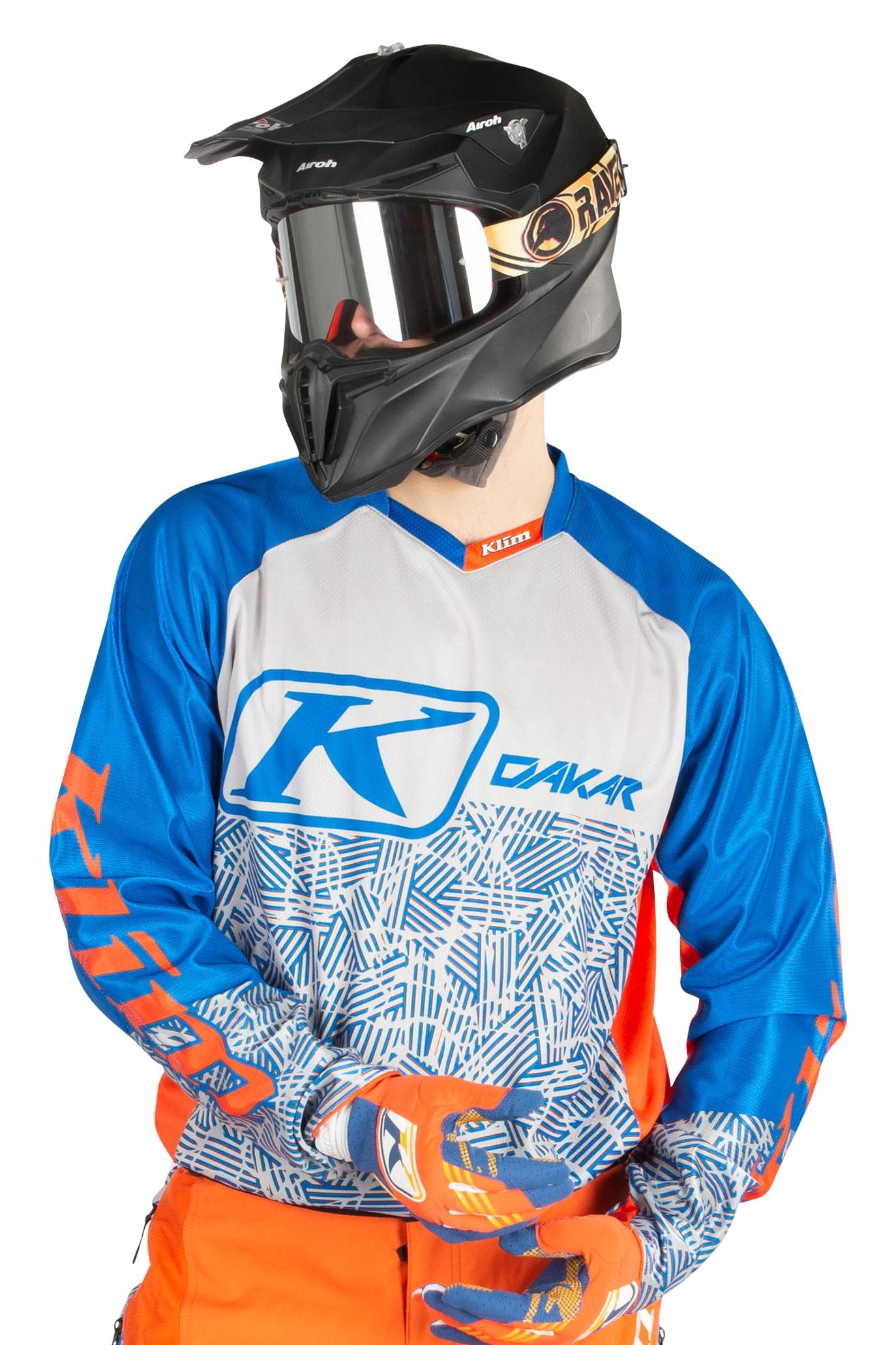 KLIM Maglia Cross  Dakar Arancio-Blu