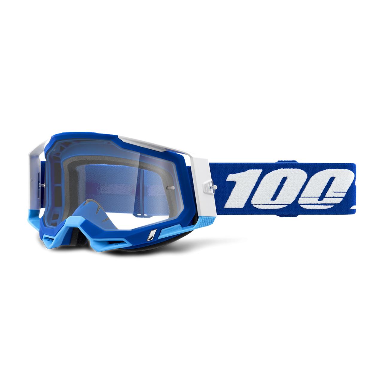 100% Maschera Cross  Racecraft 2 Blu