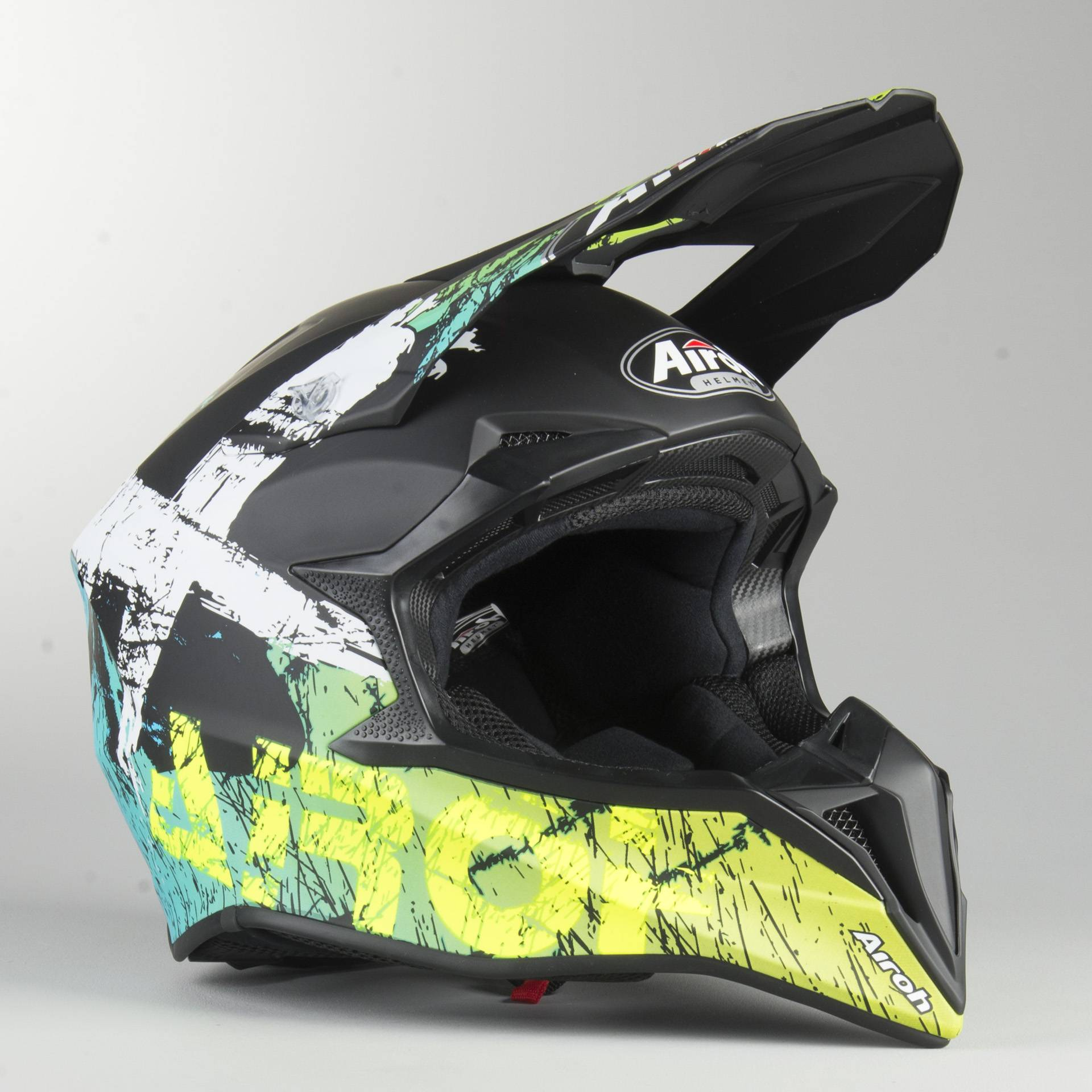 Airoh Casco Cross  Wraap Smile Giallo