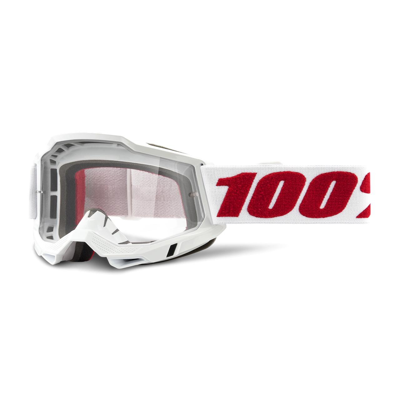 100% Maschera Cross  Accuri 2 Denver Bianco-Rosso