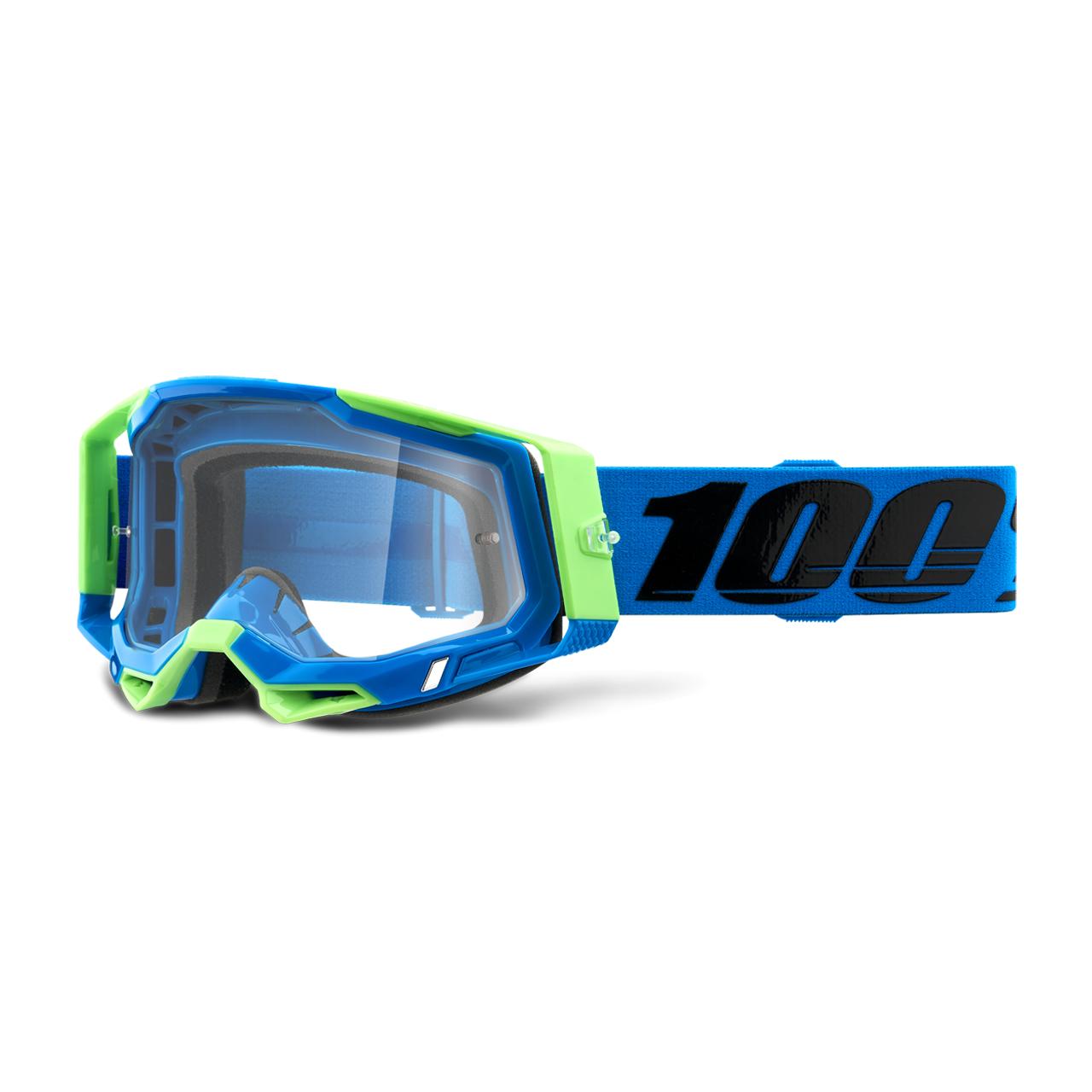 100% Maschera Cross  Racecraft 2 Fremont Blu